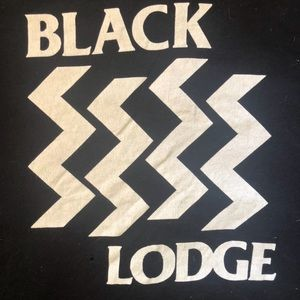 Black Lodge (twin peaks/black flag) t shirt